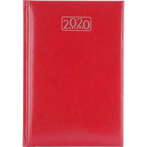 Naptár, tervező, A5, napi, VICTORIA, piros (2020 évi)
