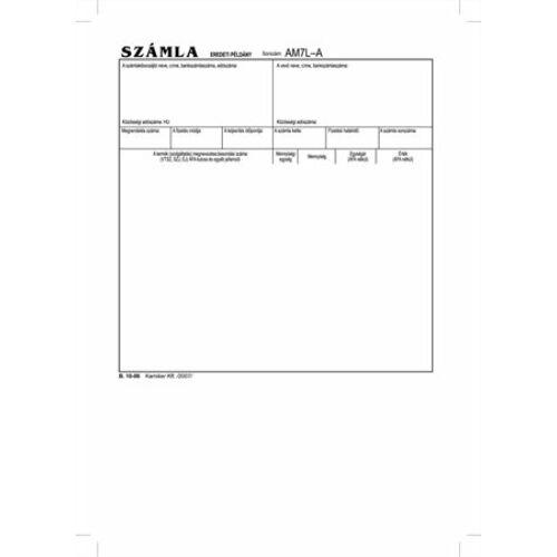 """Nyomtatvány, *számlagarnitúra, 5 példány, A5, VICTORIA,"""" B.10-06"""""""