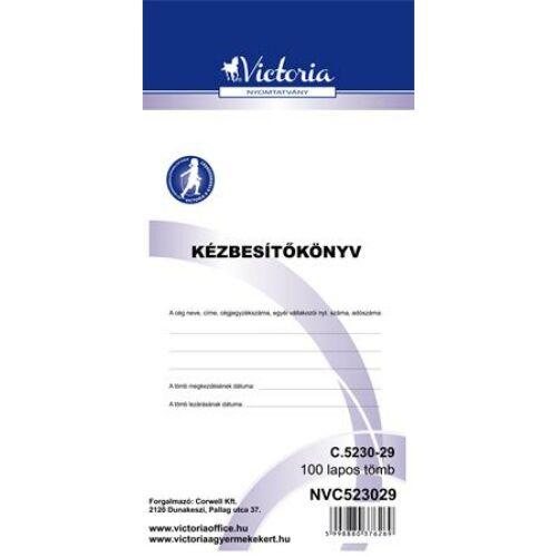 """Nyomtatvány, kézbesítőkönyv, 100 lap, VICTORIA, """"C.5230-29"""""""
