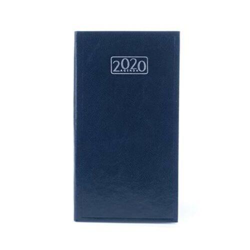 Zsebnaptár, álló elrendezésű, VICTORIA, kék (2020 évi)