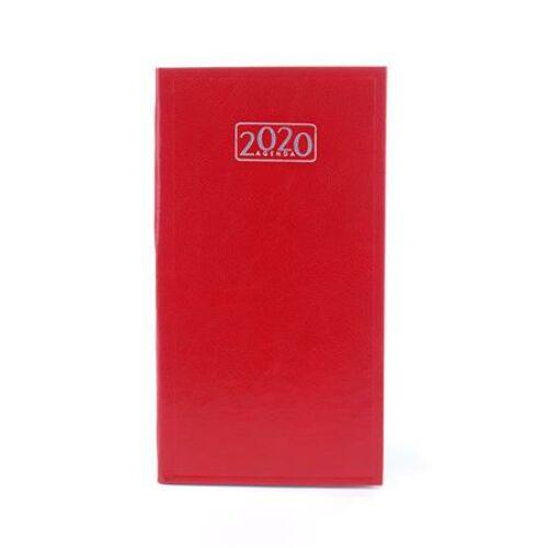 Zsebnaptár, álló elrendezésű, VICTORIA, piros (2020 évi)