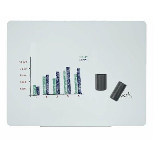 Mágneses üvegtábla, 120x90cm, VICTORIA, fehér