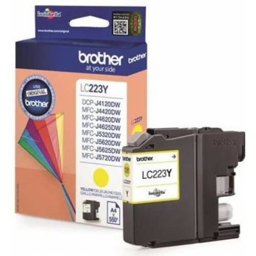 Brother LC223Y tintapatron (Eredeti)
