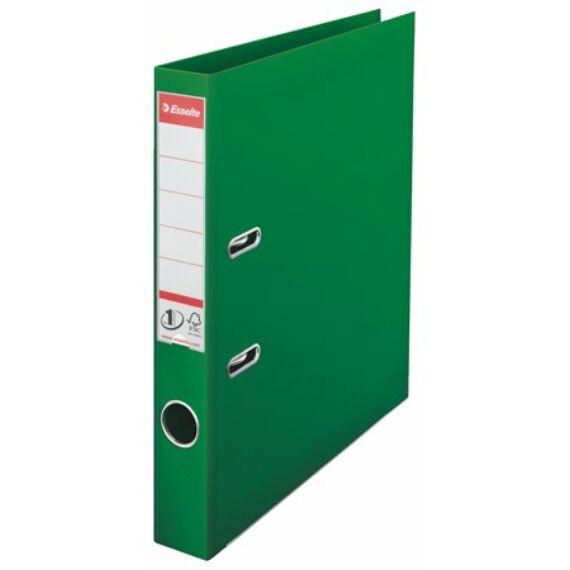"Iratrendező, 50 mm, A4, PP, élvédő sínnel, ESSELTE ""Standard"", zöld"