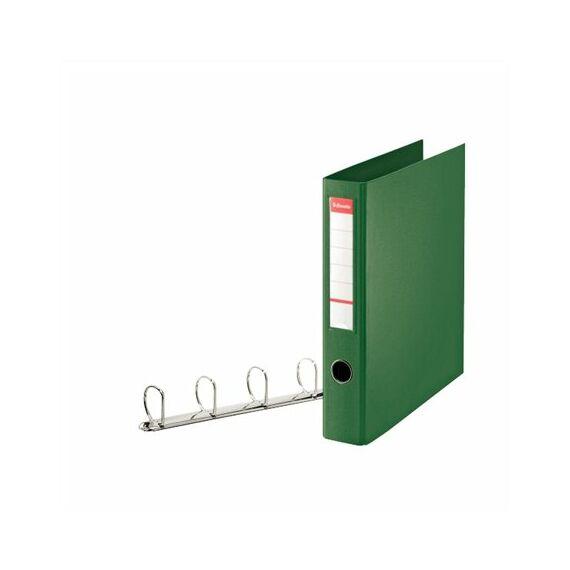"""Gyűrűs könyv, 4 gyűrű, D alakú, 60 mm, A4 maxi, PP, ESSELTE """"Jumbo Vivida"""", zöld"""