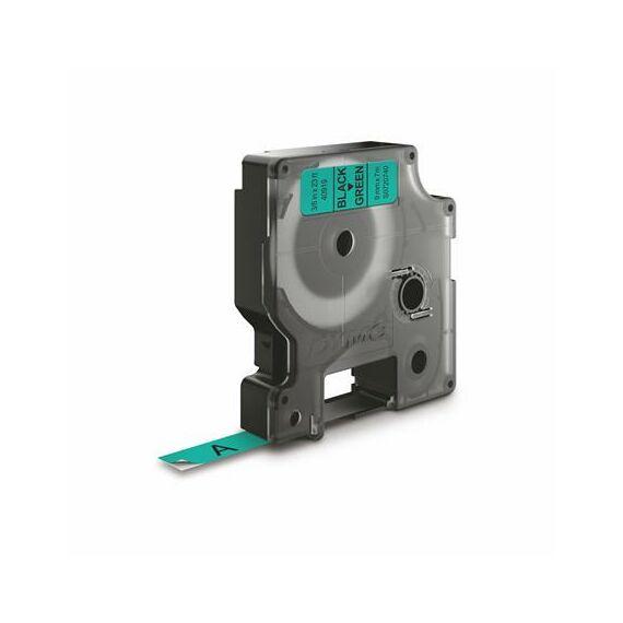 """Feliratozógép szalag, 9 mm x 7 m, DYMO """"D1"""", zöld-fekete"""