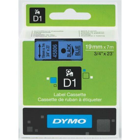 """Feliratozógép szalag, 19 mm x 7 m, DYMO """"D1"""", kék-fekete"""