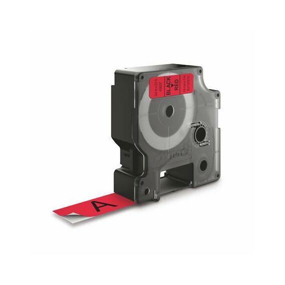 """Feliratozógép szalag, 19 mm x 7 m, DYMO """"D1"""", piros-fekete"""