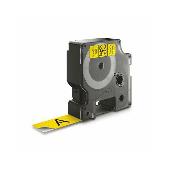 """Feliratozógép szalag, 19 mm x 7 m, DYMO """"D1"""", sárga-fekete"""