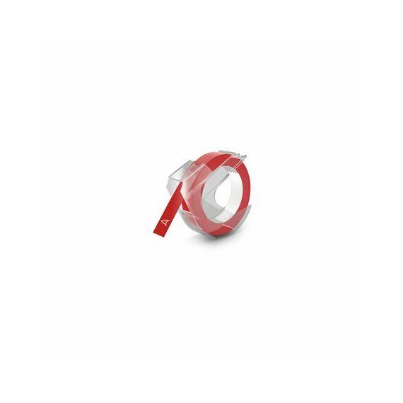 """Feliratozógép szalag, 9 mm x 3 m, DYMO """"3D"""", piros"""