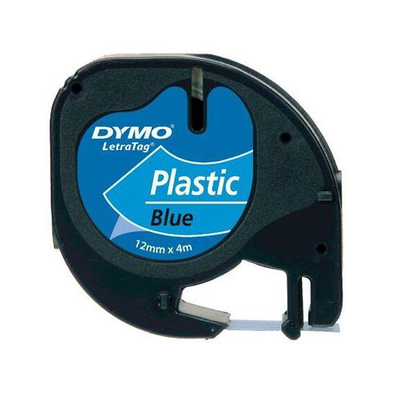 """Feliratozógép szalag, 12 mm x 4 m, DYMO """"Letratag"""", kék"""