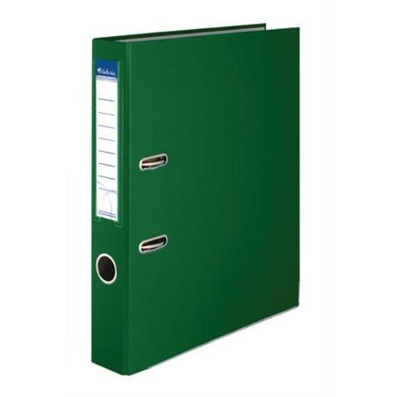 """Iratrendező, 50 mm, A4, PP/karton, élvédő sínnel, VICTORIA, """"Basic"""", zöld"""