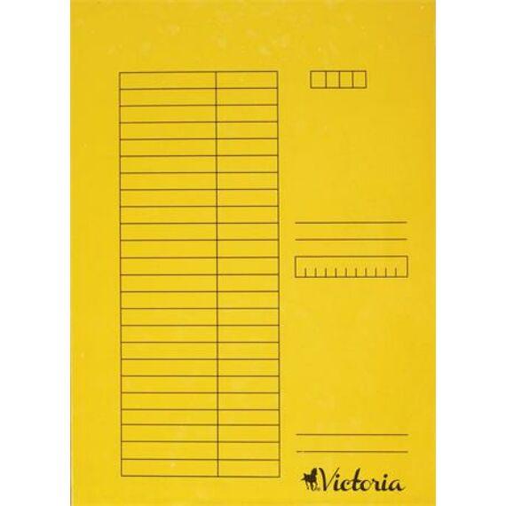 Gyorsfűző, karton, A4, VICTORIA, sárga