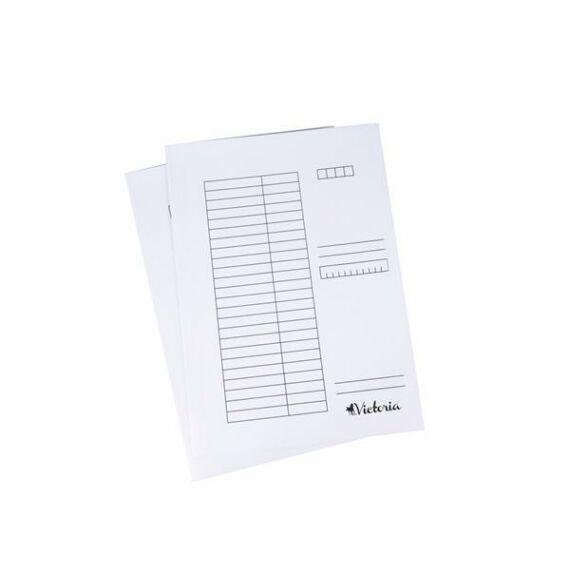 Pólyás dosszié, karton, A4, VICTORIA, fehér