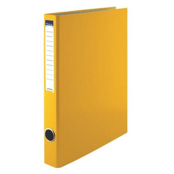 Gyűrűs könyv, 2 gyűrű, 35 mm, A4, PP/karton, VICTORIA, sárga