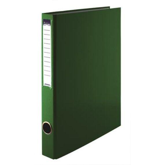 Gyűrűs könyv, 4 gyűrű, 35 mm, A4, PP/karton, VICTORIA, zöld