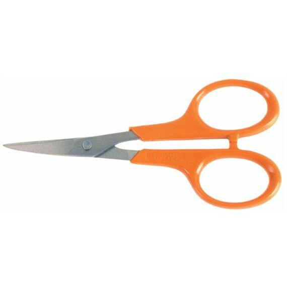 """Olló, körömvágó, 10 cm, hajlított, FISKARS """"Classic"""", narancssárga"""
