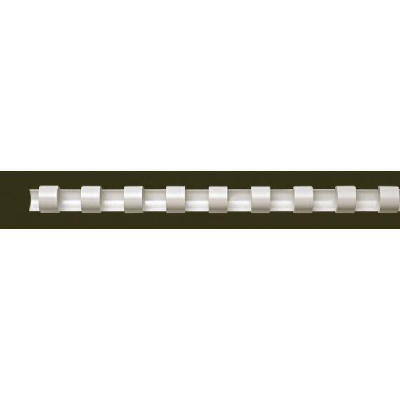 Spirál, műanyag, 6 mm, 10-20 lap, FELLOWES, 100 db, fehér