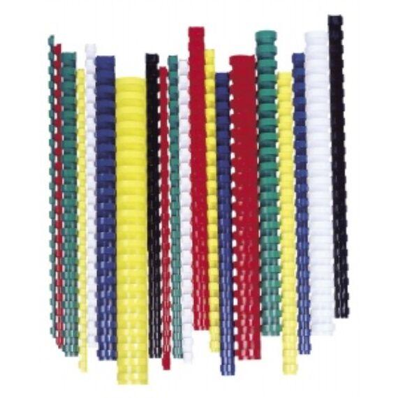 Spirál, műanyag, 10 mm, 41-55 lap, FELLOWES, 100 db, fehér
