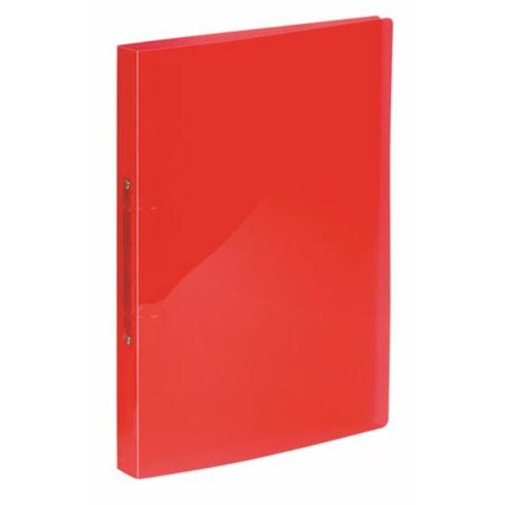 """Gyűrűs dosszié, 2 gyűrű, 25 mm, A4, PP, VIQUEL """"Propyglass"""", piros"""