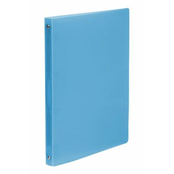 """Gyűrűs dosszié, 4 gyűrű, 25 mm, A4, PP, VIQUEL """"Propyglass"""", kék"""