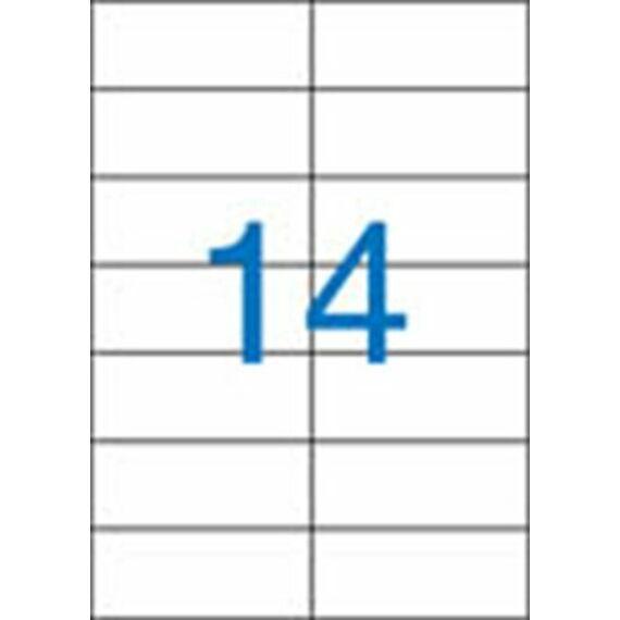 Etikett, univerzális, 105x42,4 mm, VICTORIA, 1400 etikett/csomag