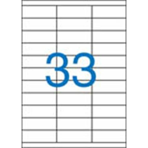 Etikett, univerzális, 70x25,4 mm, VICTORIA, 3300 etikett/csomag