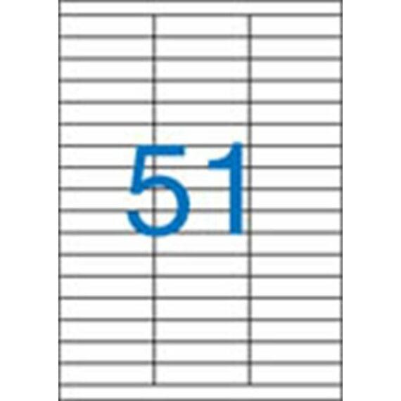 Etikett, univerzális, 70x16,9 mm, VICTORIA, 5100 etikett/csomag