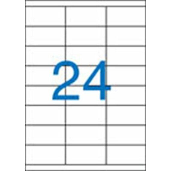 Etikett, univerzális, 70x36 mm, VICTORIA, 2400 etikett/csomag