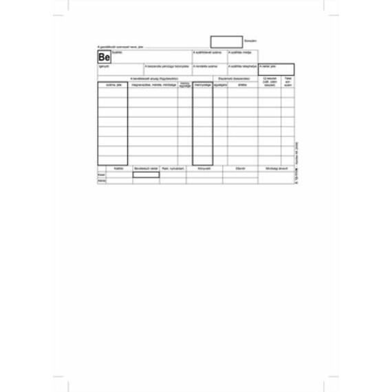"""Nyomtatvány, készletbevételezési bizonylat, 25x4, A5, VICTORIA """"B.12-111"""""""