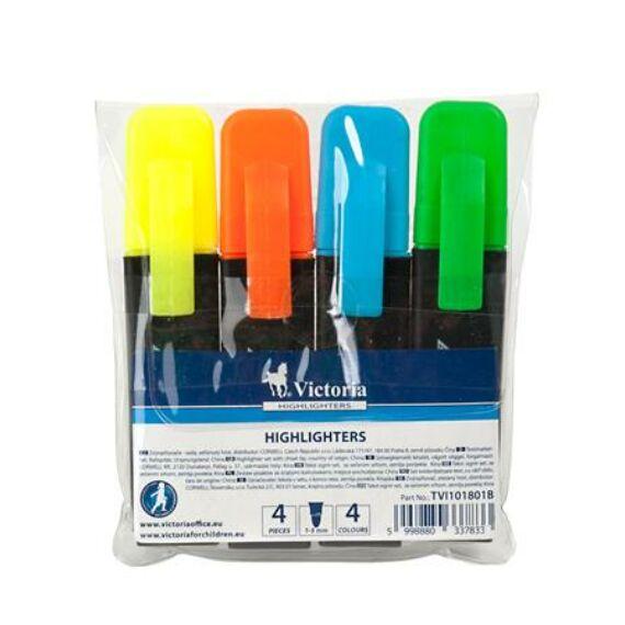 """Szövegkiemelő készlet, 1-5 mm, VICTORIA, """"Color 200"""", 4 különböző szín"""