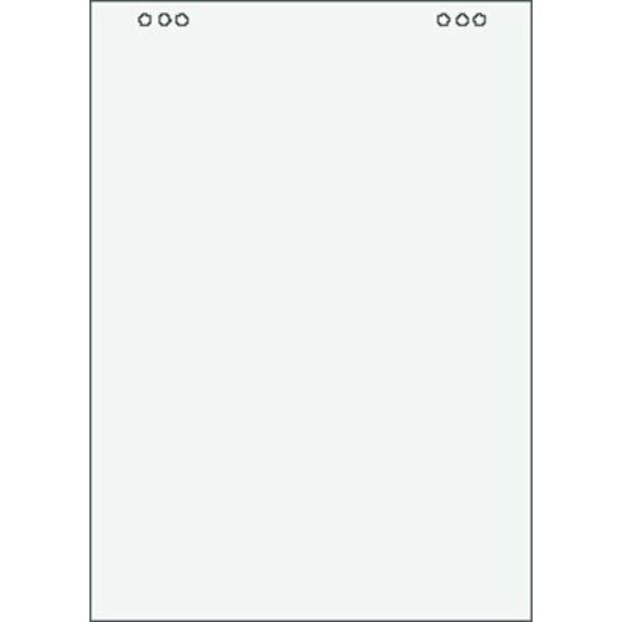 Flipchart papír, sima, 68x98 cm, 5x20 lap, VICTORIA