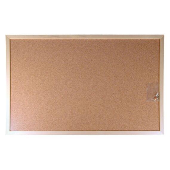Parafatábla, kétoldalas, 60x90 cm, fa keret, VICTORIA